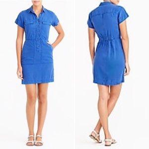 J. Crew Factory Drapey Oxford Dress - 4